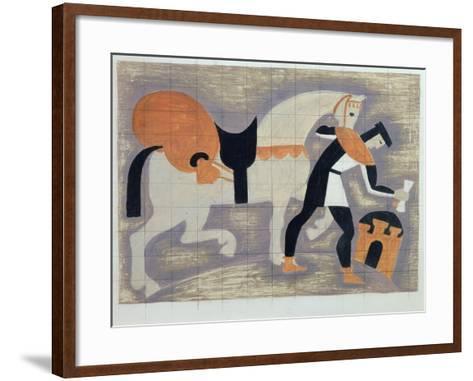 The King's Messenger, Ad 1482, 1935-John Armstrong-Framed Art Print