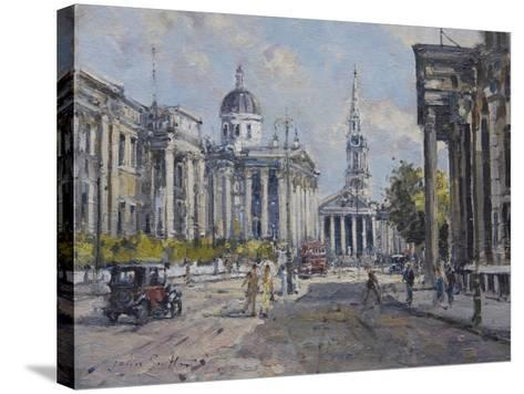 The National Gallery - Trafalgar Square in About 1920, 2008-John Sutton-Stretched Canvas Print