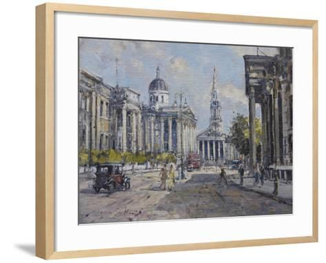 The National Gallery - Trafalgar Square in About 1920, 2008-John Sutton-Framed Art Print