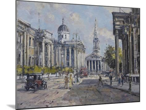 The National Gallery - Trafalgar Square in About 1920, 2008-John Sutton-Mounted Giclee Print