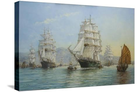 Thermopylae and Cutty Sark Leaving Foochow in 1872, 2008-John Sutton-Stretched Canvas Print