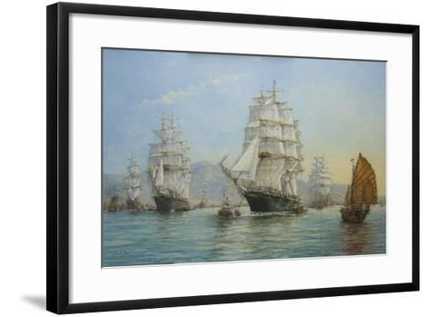 Thermopylae and Cutty Sark Leaving Foochow in 1872, 2008-John Sutton-Framed Art Print
