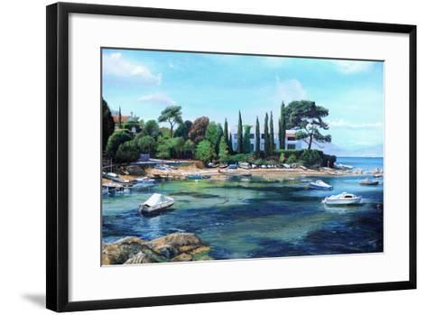 Villa and Boats, South of France-Trevor Neal-Framed Art Print