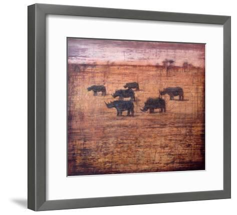 Northern White Rhinoceros, 2008-Charlie Baird-Framed Art Print