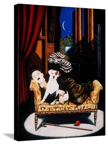 Charlie Chaplin and 'Scraps', 1992-Frances Broomfield-Stretched Canvas Print