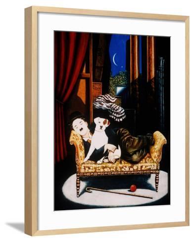 Charlie Chaplin and 'Scraps', 1992-Frances Broomfield-Framed Art Print