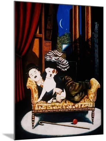 Charlie Chaplin and 'Scraps', 1992-Frances Broomfield-Mounted Giclee Print