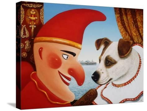 Toby and Punch, 1994-Frances Broomfield-Stretched Canvas Print