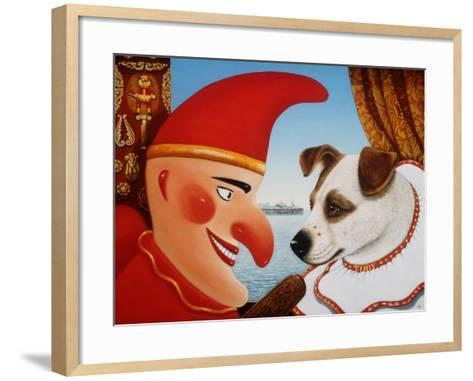 Toby and Punch, 1994-Frances Broomfield-Framed Art Print