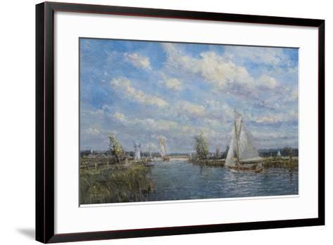 Yachts on the River Ant - Norfolk Broads, 2008-John Sutton-Framed Art Print