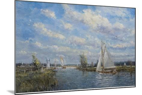 Yachts on the River Ant - Norfolk Broads, 2008-John Sutton-Mounted Giclee Print