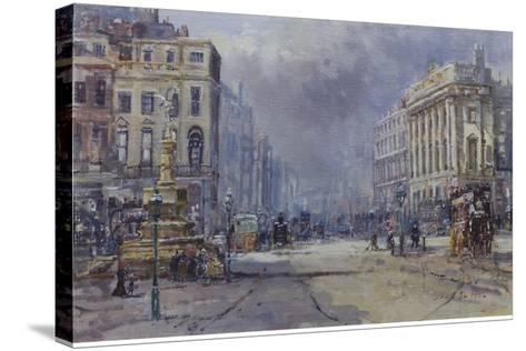Piccadilly Circus in Victorian Times, 2008-John Sutton-Stretched Canvas Print