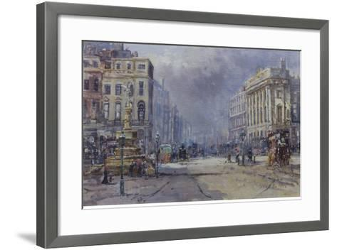 Piccadilly Circus in Victorian Times, 2008-John Sutton-Framed Art Print