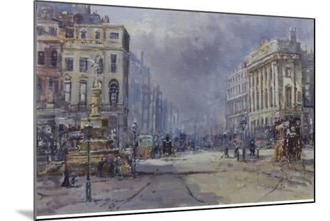Piccadilly Circus in Victorian Times, 2008-John Sutton-Mounted Giclee Print