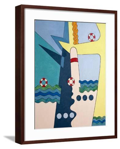 Machinery Taming the Waves, 2006-Jan Groneberg-Framed Art Print