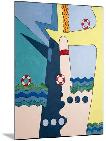 Machinery Taming the Waves, 2006-Jan Groneberg-Mounted Giclee Print