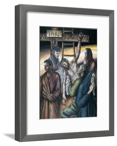 Stations of the Cross XIII: Jesus Taken Down from the Cross, 2008-Chris Gollon-Framed Art Print