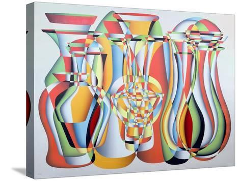 Luxate Vessel Assemblage, Green, Orange-Brian Irving-Stretched Canvas Print