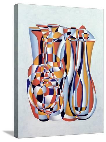 Transient Vessels Transposed, Lapis Orange-Brian Irving-Stretched Canvas Print