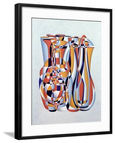 Transient Vessels Transposed, Lapis Orange-Brian Irving-Framed Art Print