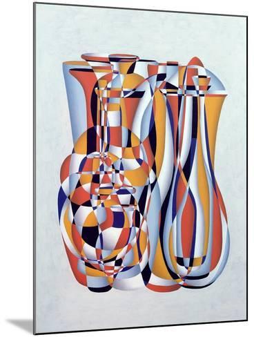 Transient Vessels Transposed, Lapis Orange-Brian Irving-Mounted Giclee Print