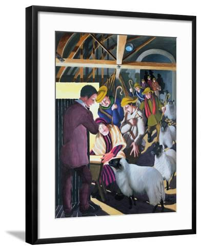 The Shepherds Went to See the Baby, 1998-Dinah Roe Kendall-Framed Art Print