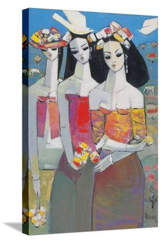 Two White Birds-Endre Roder-Stretched Canvas Print