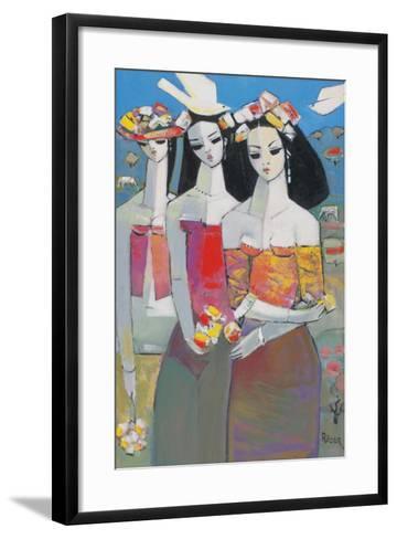 Two White Birds-Endre Roder-Framed Art Print