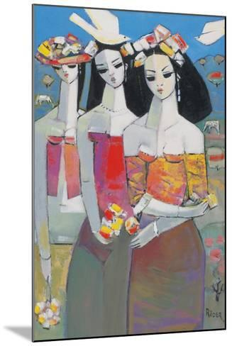Two White Birds-Endre Roder-Mounted Giclee Print
