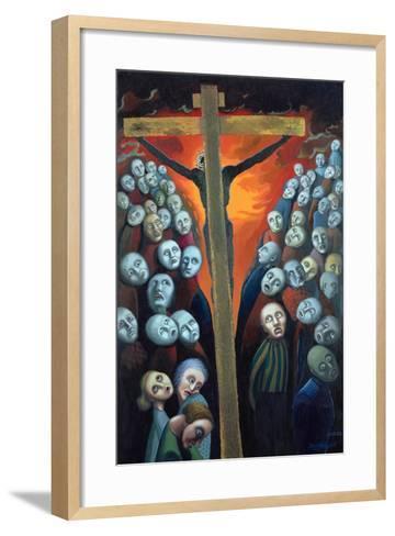 Crucifixion, 1998-Dinah Roe Kendall-Framed Art Print