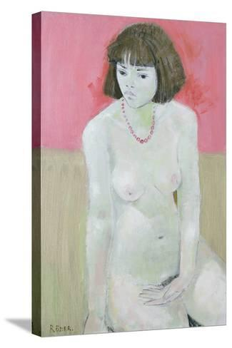 Red Necklace, 1995-Endre Roder-Stretched Canvas Print