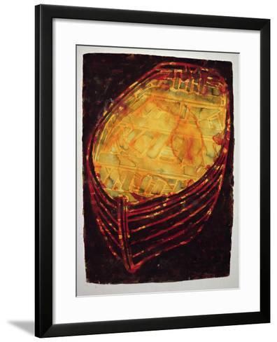 Yellow Boat, 2007-Graham Dean-Framed Art Print