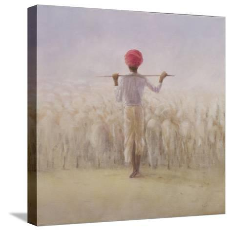 Shepherd and Flock-Lincoln Seligman-Stretched Canvas Print