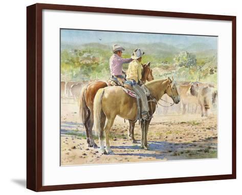 Splitting the Herd-LaVere Hutchings-Framed Art Print