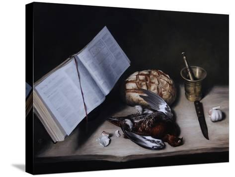 Grouse, Pestle and Mortar and Knife, 2008-James Gillick-Stretched Canvas Print