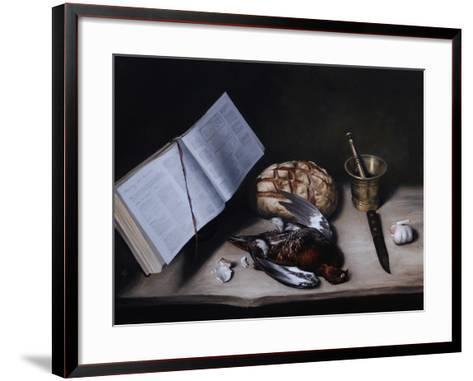 Grouse, Pestle and Mortar and Knife, 2008-James Gillick-Framed Art Print