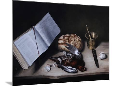 Grouse, Pestle and Mortar and Knife, 2008-James Gillick-Mounted Giclee Print