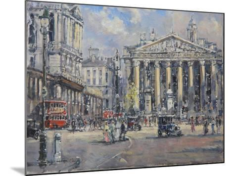 The Bank Crossing, the Royal Exchange and the Bank of England C.1930-John Sutton-Mounted Giclee Print