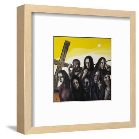 Stations of the Cross VIII: Jesus Speaks to the Women of Jerusalem, 2006-Chris Gollon-Framed Art Print