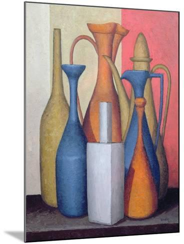 Composition of Vessels, Varying Tones-Brian Irving-Mounted Giclee Print