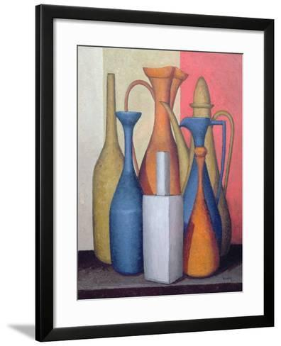 Composition of Vessels, Varying Tones-Brian Irving-Framed Art Print