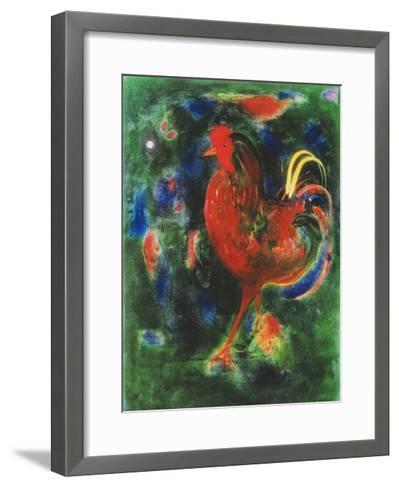 Cockerel, 2005-Jane Deakin-Framed Art Print