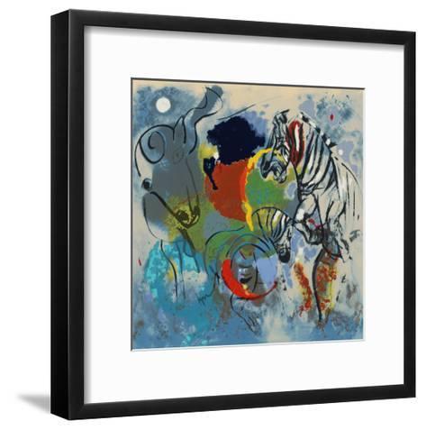 Zebras, 1988-Jane Deakin-Framed Art Print