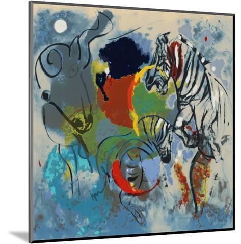 Zebras, 1988-Jane Deakin-Mounted Giclee Print