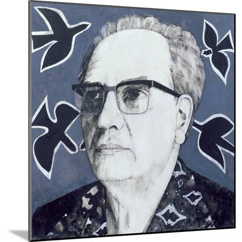 Portrait of Olivier Messiaen, Illustration for 'The Sunday Times', 1970s-Barry Fantoni-Mounted Giclee Print