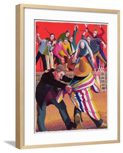 Joseph Hated by His Brothers, 2003-Dinah Roe Kendall-Framed Art Print