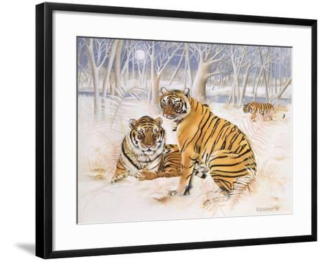Tigers in the Snow, 2005-E.B. Watts-Framed Art Print