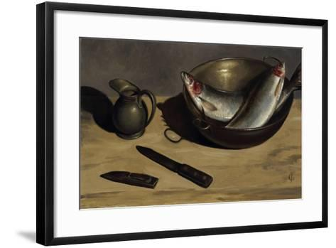 Herrings, Knife and Jug-James Gillick-Framed Art Print