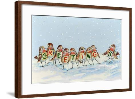 Robin's Late Arrival, 2008-David Cooke-Framed Art Print