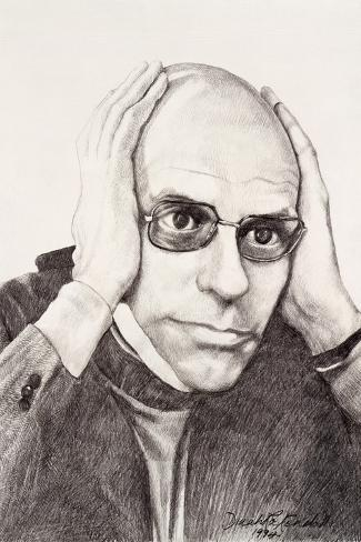 Michel Foucault, 1994-Dinah Roe Kendall-Stretched Canvas Print
